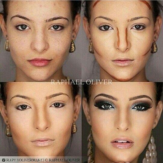 Как визуально уменьшить глаза макияжем