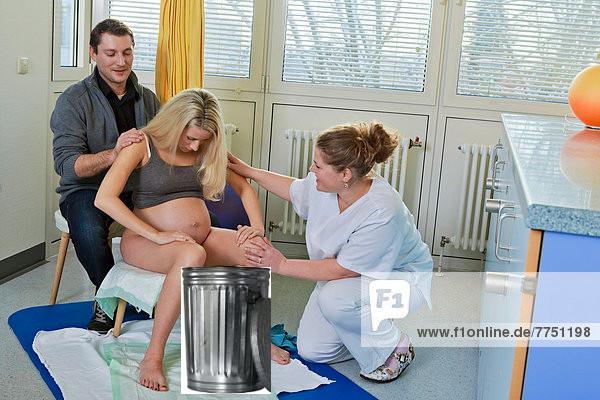 Беременная в гинекологическом кресле