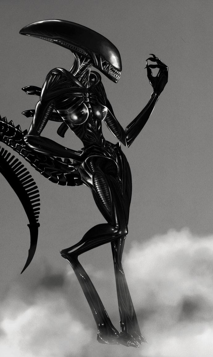 Horney warrior fucked by alien porn video
