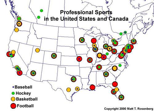 Major League Baseball Attendance Map For Regular Season The - Us baseball map