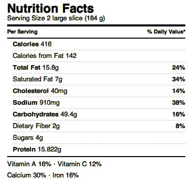 Costco Kirkland Pizza Nutritional Information – Nutrition Ftempo